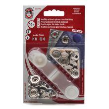 Gombíky stláčacie béžovej, cvočky AM, priemer 15mm (v.6), 10ks