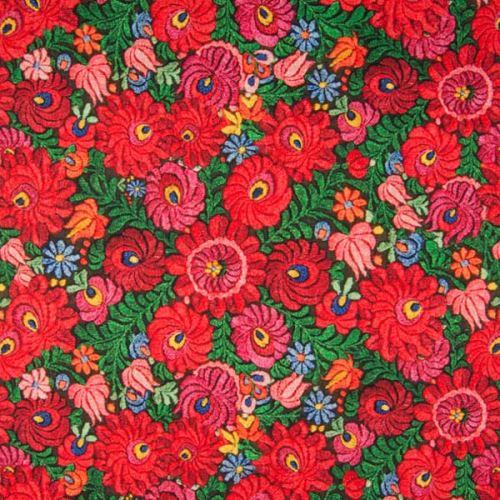Dekorační látka barevné květy, š.135