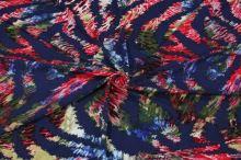 Úplet modrý 15364, barevný vzor š.145
