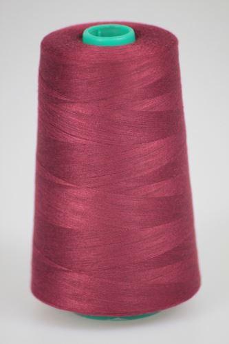 Niť KORALLI polyesterová 120, 5000Y, odtieň 2690, červená-fialová