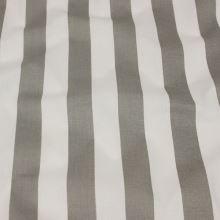 Bavlnené plátno, šedo biely pruh, š.140