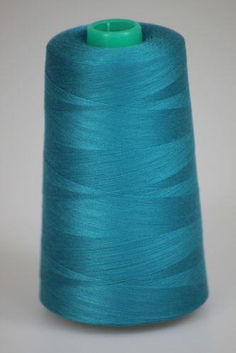 Niť KORALLI polyesterová 120, 5000, odtieň 5735, modrá