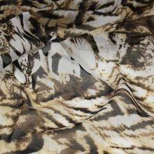 Elastický tyl hnědo-bílý, š.150