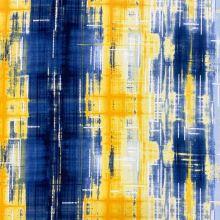 Úplet N5479, žlto-modrý vzor, š.150