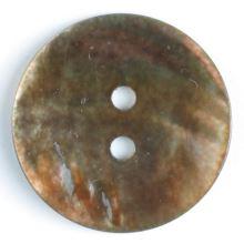 Knoflík perleťový hnědý 241181, 13mm