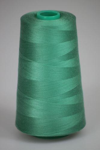 Niť KORALLI polyesterová 120, 5000Y, odtieň 6240, zelená