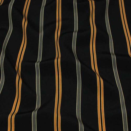Šatovka černá, žlutý pruh š.150