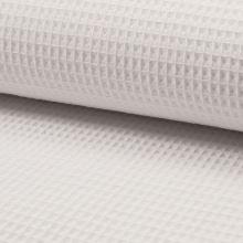 Bavlna vafle bílá, š.145