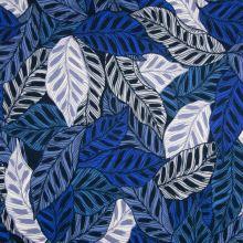 Úplet modro-bílé listy, š.150