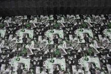 Prešiv foto chlapci a dievčatá, čiernozelený, š.145