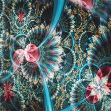 Úplet modro-ružový abstraktný vzor, š.175