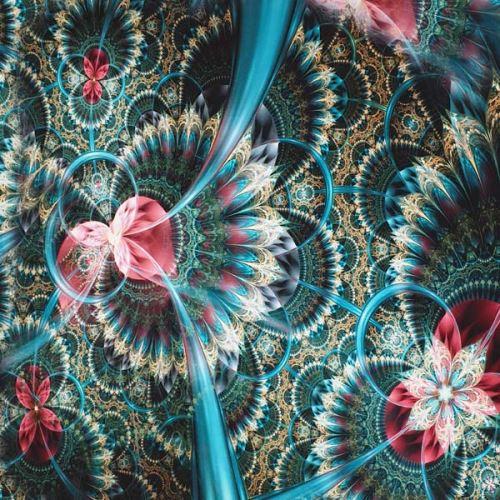 Úplet modro-růžový abstraktní vzor, š.175