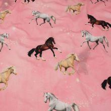 Úplet růžový, koně a hvězdný třpyt, š.160