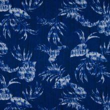 Šatovka 21756 modrá, palmové listy, š.145