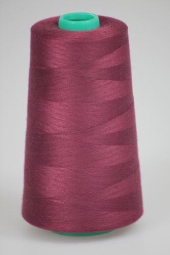 Niť KORALLI polyesterová 120, 5000Y, odtieň 3590, fialová-vínová