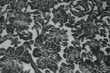 Úplet šedý, sametový vzor, š.150