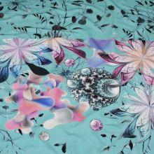 Úplet modrý, kvety a lístky, š.175