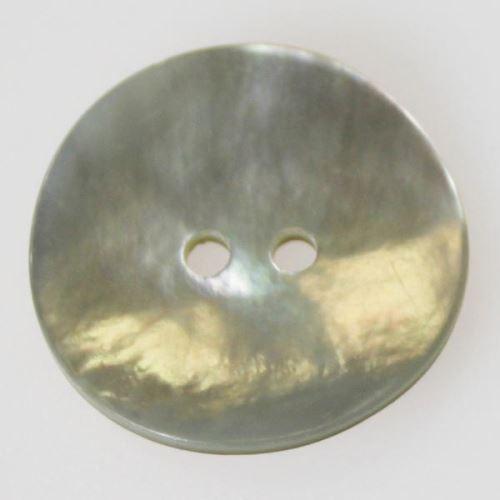 Knoflík perleťový K40-6, průměr 25 mm.