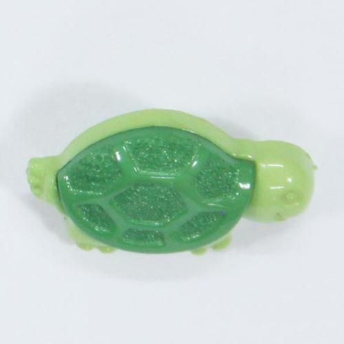 Gombík detský zelený, korytnačka, 18 mm