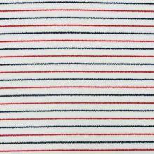 Úplet bílý, tenký modrý a červený pruh, š.145