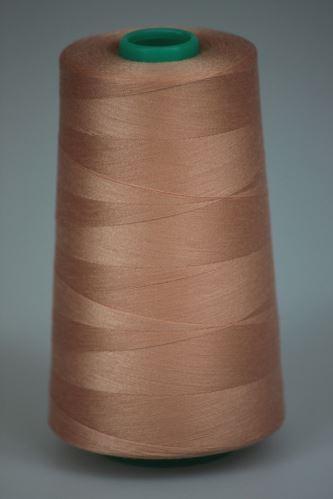 Niť KORALLI polyesterová 120, 5000Y, odtieň 3140, oranžová-ružová