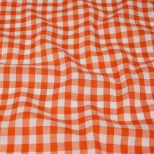 Kanafas oranžovo-bílý, š.145
