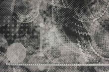 Šifon šedo-bílý vzor š.145