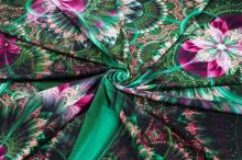 Úplet zeleno-ružový abstraktný vzor, š.175