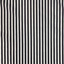 Bavlna 21836, čierno-biely pruh, š.145