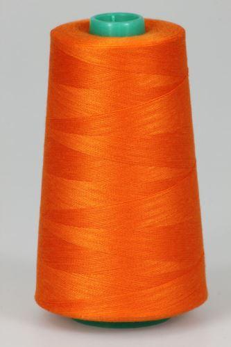 Niť KORALLI polyesterová 120, 5000Y, odtieň 2230, oranžová