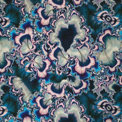 Úplet, růžovo-modrý polodrahokam, š.175