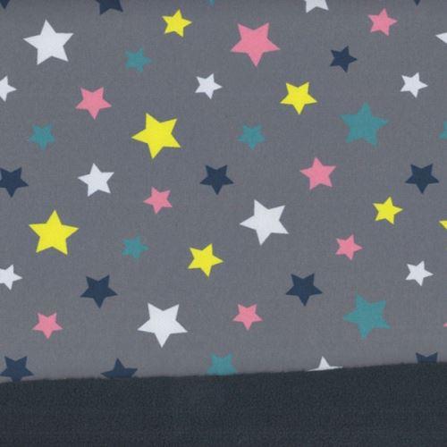 Softshell šedý, barevné hvězdy, š.145