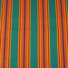 Lehátkovina zelená, oranžový pruh, š.45
