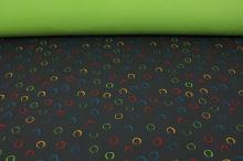 Softshell šedý, barevné kruhy, š.145