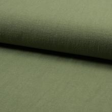 Ľan khaki 21631, predpraný, 250g/m, š.140