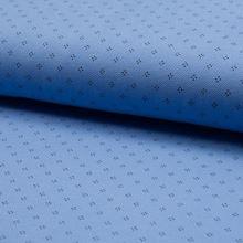 Úplet modré piké, tečky, š.165