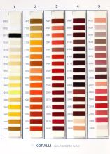 Barevnice - polyesterové nitě Koralli, 400 odstínů