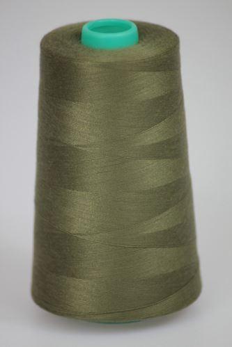 Niť KORALLI polyesterová 120, 5000, odtieň 6865, zelená