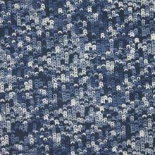 Úplet modrý, flitrový vzor, š.145