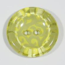 Knoflík žluto-zelený, průměr 25 mm