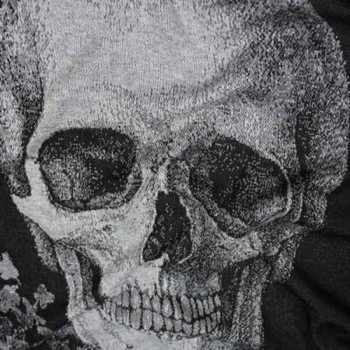 Úplet čierny, šedá lebka š.155
