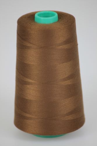Niť KORALLI polyesterová 120, 5000Y, odtieň 8450, hnedá