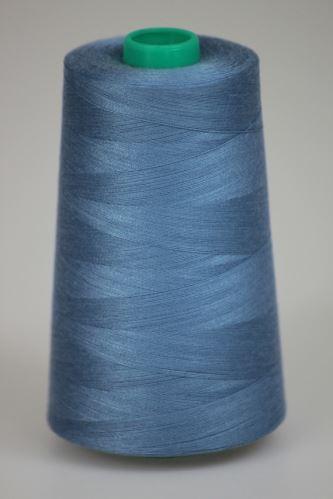 Niť KORALLI polyesterová 120, 5000, odtieň 5350, modrá