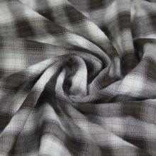 Košilovina káro hnědo-bílé, š.150