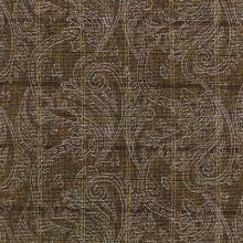 Kostýmovka N0046 hnědá, káro, stříbrný tisk š.145