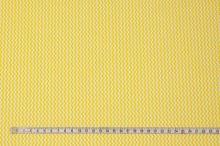 Bavlnené plátno žlto-biely drobný zig-zag, š.160