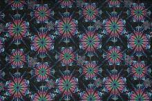 Úplet černý, barevná mandala, š.175