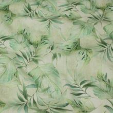 Bavlna zelené listy, š.145