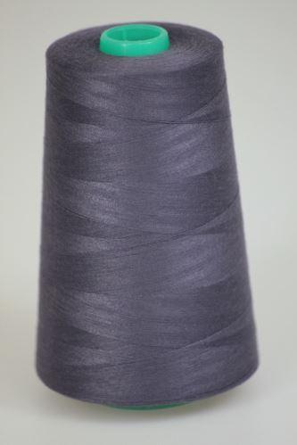 Niť KORALLI polyesterová 120, 5000Y, odtieň 4980, fialová-šedá