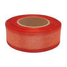 Stuha monofilová s vlascem červená, šíře 25mm, 25m